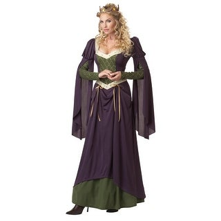 Lady In Waiting Medieval Queen Costume Adult Large 10-12,Medium 8-10,Small 6-8,X-Large 12-14