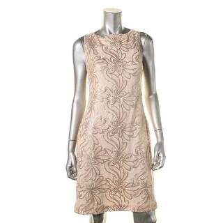 Lauren Ralph Lauren Womens Mesh Sequined Cocktail Dress - 10