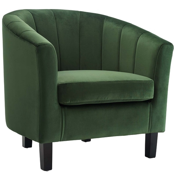Copper Grove Ludberg Channel-tufted Upholstered Velvet Armchair. Opens flyout.