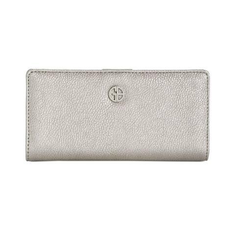 Giani Bernini Bifold Snap Wallet Silver - One Size