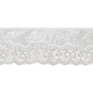 """2 Tier Lace 2""""X12yd-White Iridescent - White"""