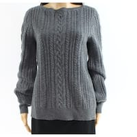 Lauren By Ralph Lauren Heather Gray Womens Size Large L Sweater