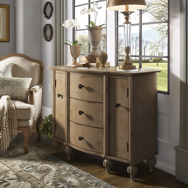 Marielle Antique Bun Foot 3-Drawer Combo Chest by iNSPIRE Q Artisan. Opens flyout.