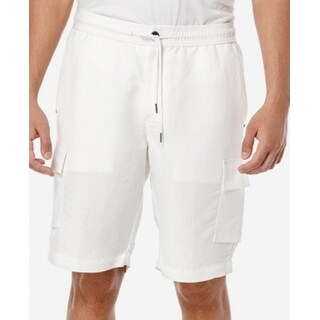 Cubavera NEW White Drawstring Mens Size 2XL Linen Blend Cargo Shorts