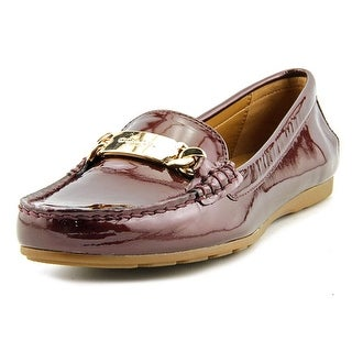 Coach Olive Women Moc Toe Patent Leather Burgundy Loafer