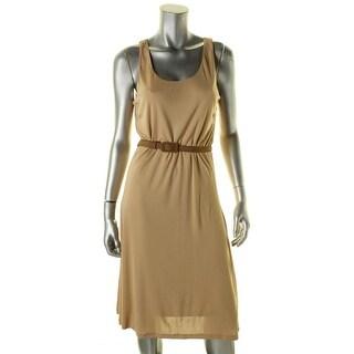 Lauren Ralph Lauren Womens Casual Dress Scoop Neck Stretch