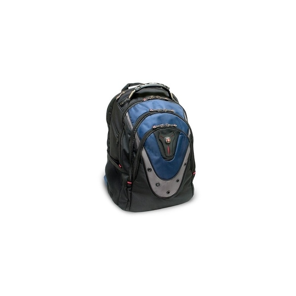 SwissGear GA-7316-06F00 Swissgear IBEX backpack. Fits up to 17in laptop. Black& Blue - Polyester, Nylon