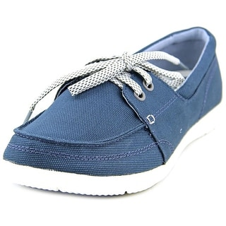 Crocs Walu II Canvas Skimmer Women Moc Toe Canvas Blue Boat Shoe