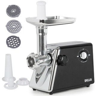 Della Stainless Steel Electric Meat Grinder Kubbe Attachment w/ 3 Blade, 1300W, #5