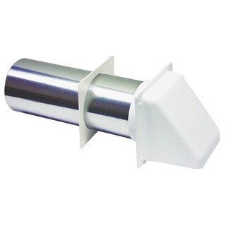 "Lambro 222W Plastic Dryer Vent Hood, 3"""