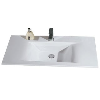 "Eago BB127 31-1/2"" Drop In Bathroom Sink - White"