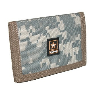 CTM® Men's Nylon Digital Camouflage US Army Trifold Wallet - One Size