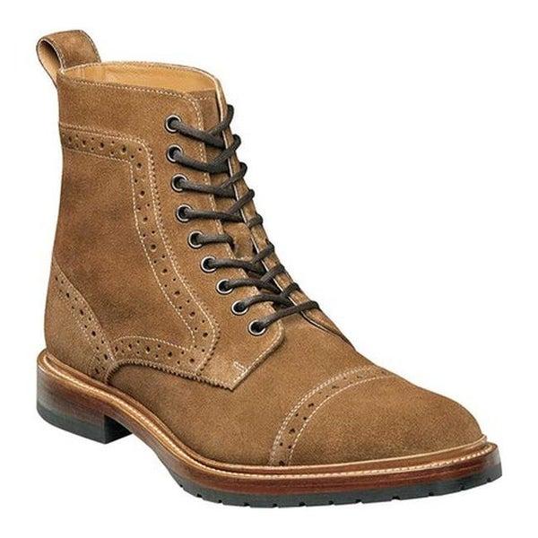 bb5d1d490f5 Shop Stacy Adams Men's Madison II Cap Toe Boot 00081 Tan Suede ...