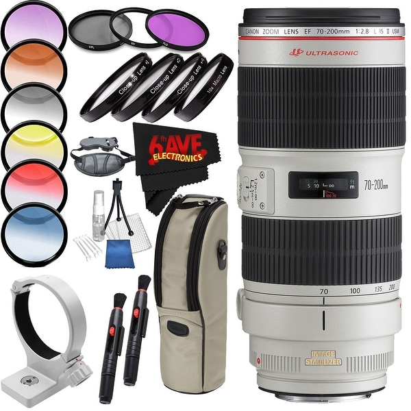 Canon EF 70-200mm f/2.8L IS II USM Lens International Version (No Warranty) Professional Accessory Combo