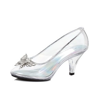 Womens Clear Pump with Butterfly Costume Heels