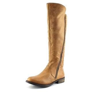 Steve Madden Northsde Women Round Toe Leather Tan Knee High Boot