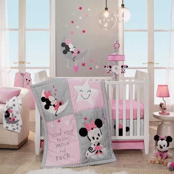 Shop Disney Baby Minnie Mouse Pink 4 Piece Nursery Crib