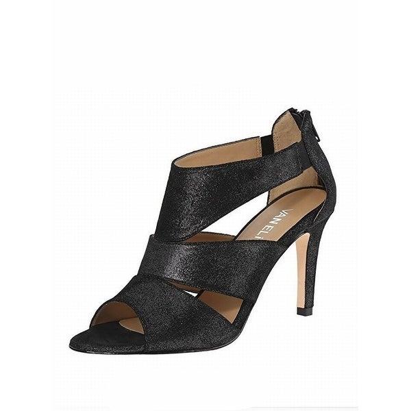 Vaneli NEW Black Women Shoes Size 8.5M Bahia Glitter Suede Sandal