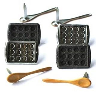 Baking - Eyelet Outlet Shape Brads 12/Pkg