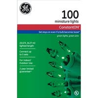 GE 64423 String A Long Mini Light Set, Green