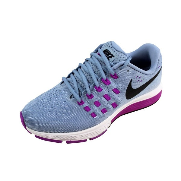 reputable site f22d3 6b2ff Nike Women  x27 s Air Zoom Vomero 11 Blue Grey Black-Hyper