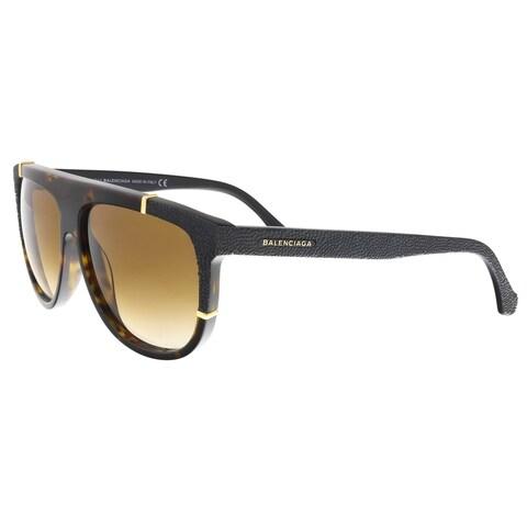 Balenciaga BA0025/S 23F Dark Havana/Black Square Sunglasses - 58-13-140