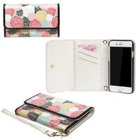 JAVOedge Rosebud Clutch Wallet Case with Matching Wristlet for iPhone 6 (4.7 inch)