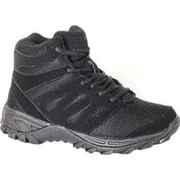 Mt. Emey Men's 9713 Walking Boot Black Leather Mesh
