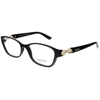 Valentino V2621 001 Black Rectangular Valentino Eyewear