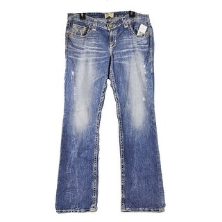 Big Star Women's Vintage Liv Boot Stretch Wash Distress Faded Jeans 25 Long