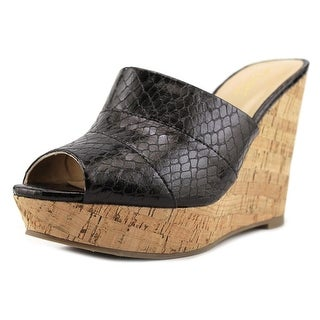 Thalia Sodi Jadey Women  Open Toe Synthetic Black Wedge Sandal