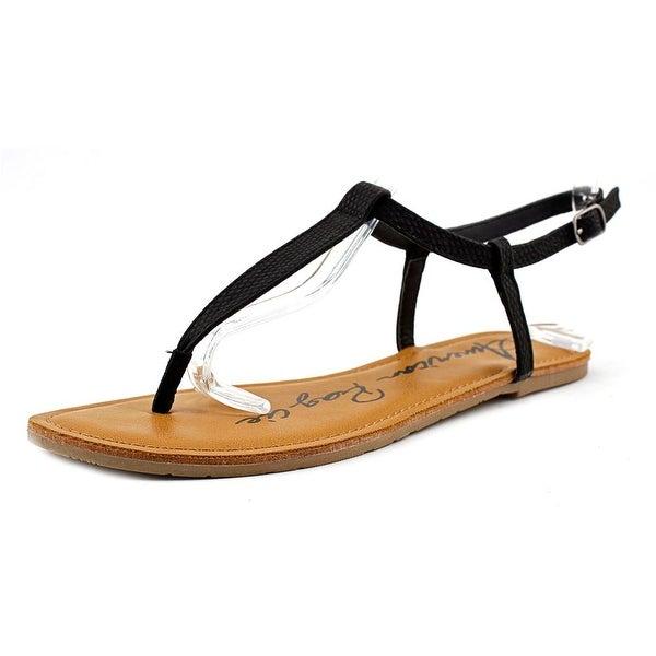 American Rag Krista Women Open Toe Synthetic Black Thong Sandal
