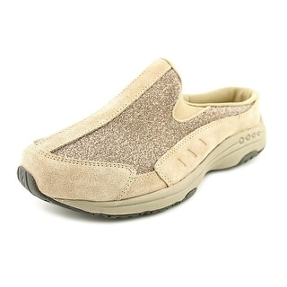 Easy Spirit Traveltime Women Round Toe Suede Nude Mules