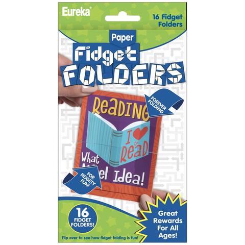 Fidget Folders, Reading Puns, 16 Per Pack, 6 Packs