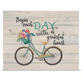 Jo Moulton Poster Print entitled Begin Each Day