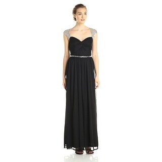 Adrianna Papell Women's Long SMJ Gown with Beading Detail