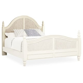 "Hooker Furniture 5900-90251 Sandcastle 66"" Wide Queen Size Rubberwood Coastal Style Headboard with Seagrass Accent"