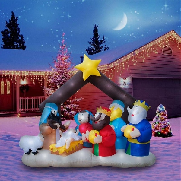 Holidayana christmas inflatable giant 65 ft nativity scene holidayana christmas inflatable giant 65 ft nativity scene inflatable featuring lighted interior workwithnaturefo