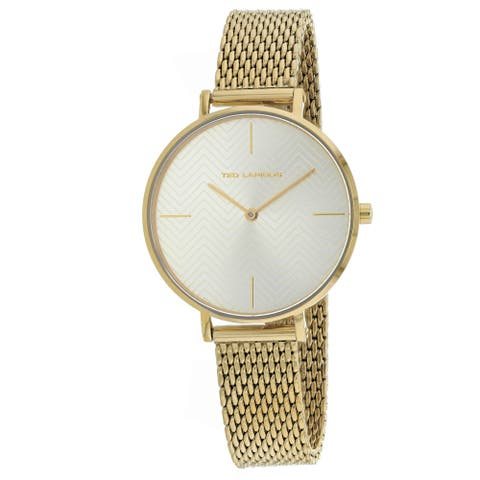 Ted Lapidus Women's Classic A0705PYFIXX Gold Dial watch