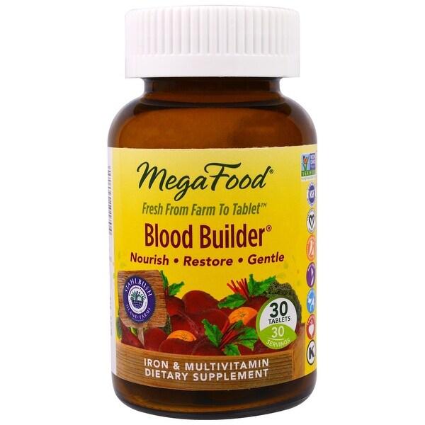 MegaFood Blood Builder Iron Multivitamin - 30 Tablets