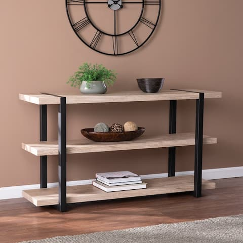 Carbon Loft Saluda Transitional Natural Wood Console Table