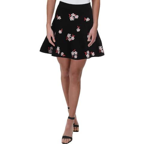 Juicy Couture Black Label Womens Mini Skirt Floral Jacquard