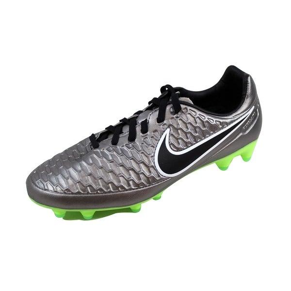 Nike Men's Magista Orden FG Metallic Pewter/Black-Ghost Green-Green Glow 651329-010