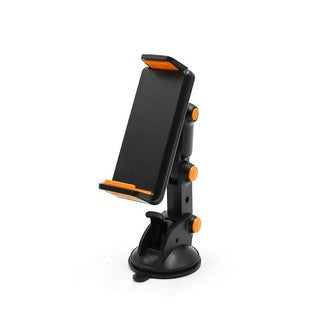 Unique Bargains Universal Orange Black Plastic Car Phone Mount Holder Suction Pad Sticker Base