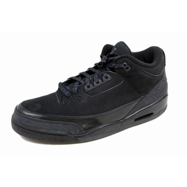 34eba38b2f8 Shop Nike Men's Air Jordan III 3 Retro Black/Dark Charcoal Black Cat ...