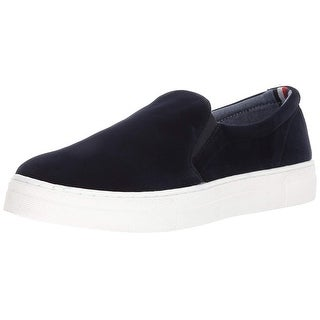 Tommy Hilfiger Womens sodas Velvet Low Top Slip On Fashion Sneakers