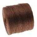 BeadSmith Super-Lon (S-Lon) Cord - Size 18 Twisted Nylon - Brown / 77 Yard Spool - Thumbnail 0