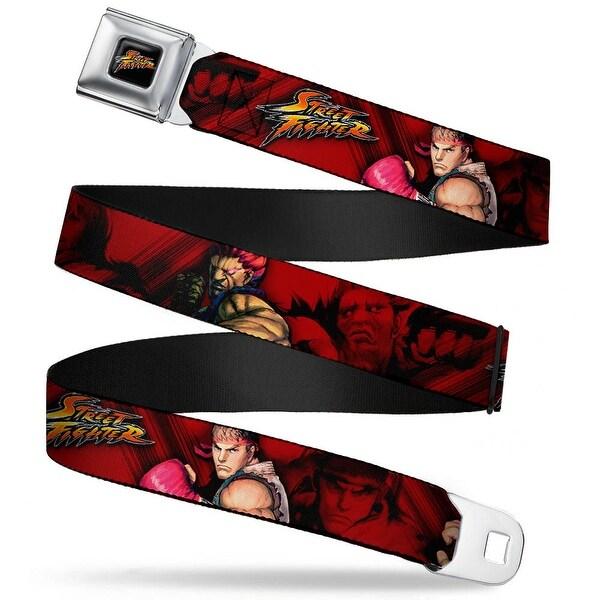 Street Fighter Logo Full Color Black Street Fighter Ryu Ken Akuma Poses Red Seatbelt Belt