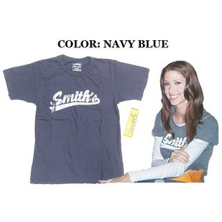 Smith's American Navy Blue Vintage Distressed T-Shirt S/M Small/Medium