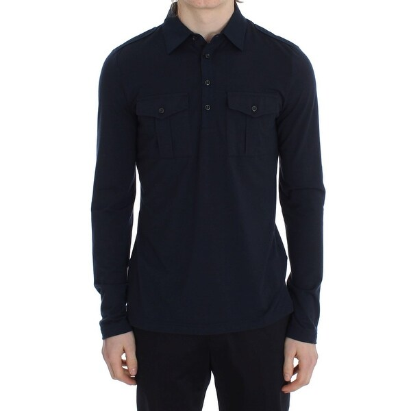 b95566cf3e58 Shop TOMMY HILFIGER Blue Button Down Polo Men's Sweater - Free ...